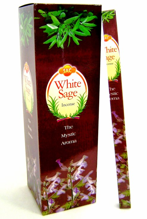 SAC White Sage Incense - 20 sticks