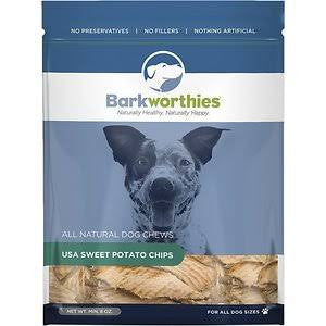 Barkworthies Sweet Potato Chips Dog Treats