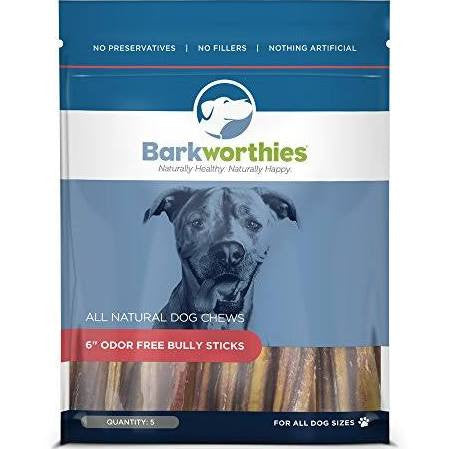 Barkworthies Odor-Free Jumbo Bully Sticks for Dogs