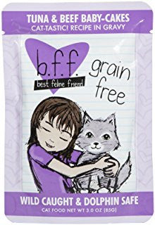 BFF-Best Feline Friends Grain Free Tuna & Beef Baby Cakes Recipe for Cats