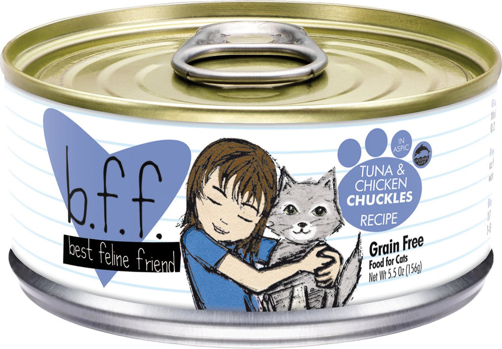 BFF-Best Feline Friends Grain Free Tuna & Chicken Chuckles Recipe in Aspic for Cats