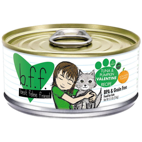 BFF-Best Feline Friends Grain Free Tuna & Pumpkin Valentine Recipe in Gravy Canned Cat Food