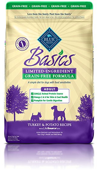 BLUE Basics® Grain-Free Turkey & Potato Dry Recipe for Adult Dogs