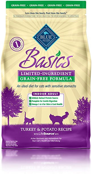 BLUE Basics® Grain-Free Turkey & Potato Dry Recipe for Mature Cats