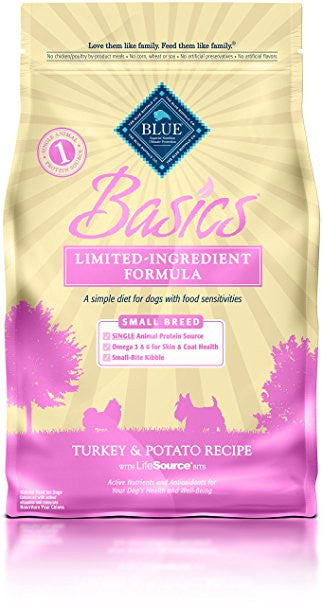 BLUE Basics® Turkey & Potato Dry Recipe for Small Breed Adult Dogs