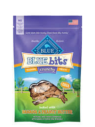BLUE Bits® Banana & Peanut Butter Crunchy Training Treats for Dogs