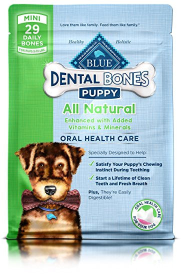 BLUE Bones® Dental Chews for Puppies – Mini