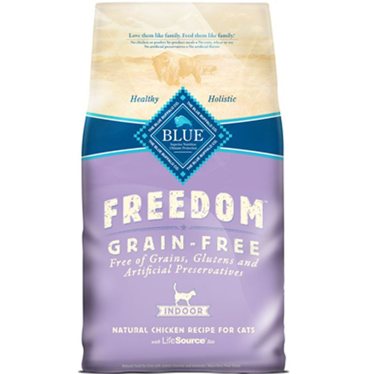 BLUE Freedom® Grain-Free Indoor Chicken Dry Recipe for Adult Cats