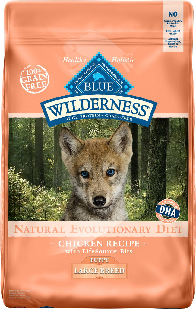 BLUE Wilderness® Grain-Free Chicken Dry Recipe for Large Breed Puppies