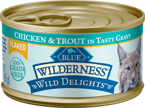Blue Buffalo Wilderness Wild Delights Flaked Chicken & Trout Grain-Free Canned Cat Food