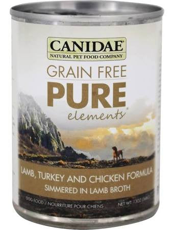 CANIDAE® Grain Free PURE ELEMENTS® Lamb, Turkey & Chicken Formula for Dogs