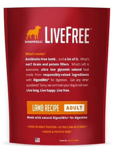 DOGSWELL® LiveFree® Lamb Adult Dry Dog Food