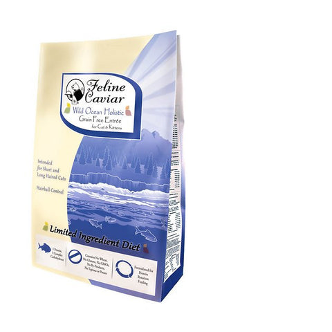 FELINE CAVIAR® Wild Ocean Holistic Grain Free Entree with Herring & Split Pea - Hairball Control Dry Cat Food