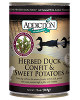 ADDICTION Grain Free Herbed Duck Confit & Sweet Potatoes Entree Canned Dog Food