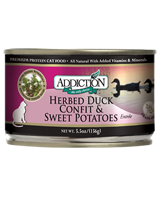 ADDICTION Grain Free Herbed Duck Confit & Sweet Potatoes Entree Canned Cat Food