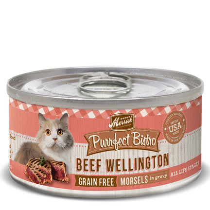 MERRICK® Purrfect Bistro™ Grain Free Beef Wellington Morsels in Gravy Canned Cat Food