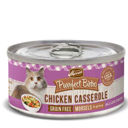 MERRICK® Purrfect Bistro™ Grain Free Chicken Casserole Morsels in Gravy Canned Cat Food