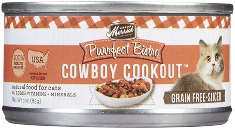 MERRICK® Purrfect Bistro™ Grain Free Cowboy Cookout® Morsels in Gravy Canned Cat Food