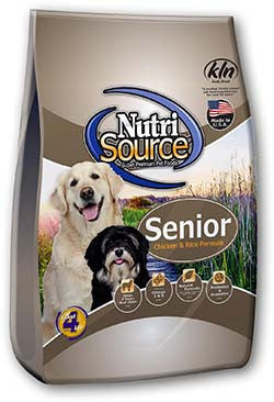 NUTRISOURCE® Senior Chicken & Rice Formula Dry Dog Food