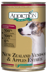 ADDICTION Grain Free New Zealand Venison & Apples Entree for Dogs
