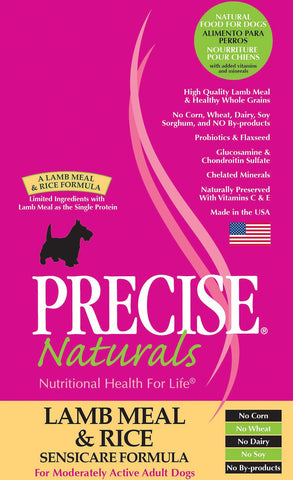 PRECISE NATURALS® Lamb Meal & Rice Seniscare Formula Dry Dog Food