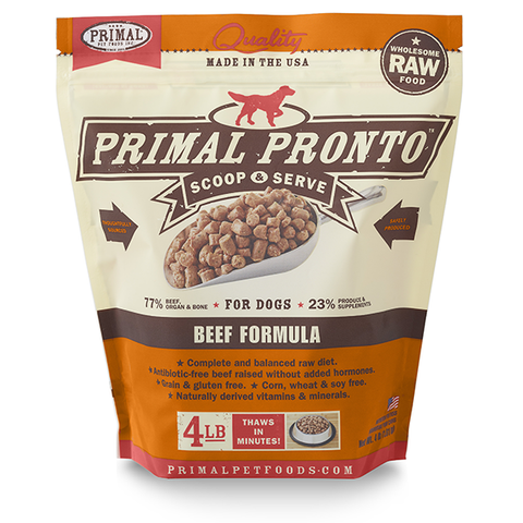 PRIMAL PRONTO™ Raw Frozen Canine Beef Formula