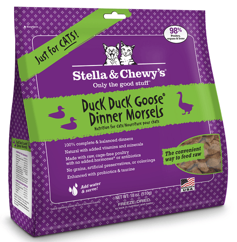 STELLA & CHEWY'S® Raw Duck, Duck Goose Dinner Morsels for Cats