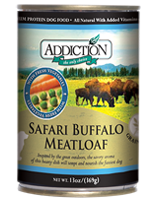 ADDICTION Grain Free Safari Buffalo Meatloaf for Dogs