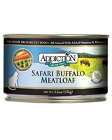 ADDICTION Grain Free Safari Buffalo Meatloaf for Cats