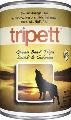 TRIPETT™ Green Beef Tripe, Duck & Salmon Canned Dog Food