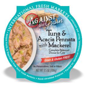 AGAINST THE GRAIN™ Tuna & Acacia Pennata with Mackerel Dinner for Cats