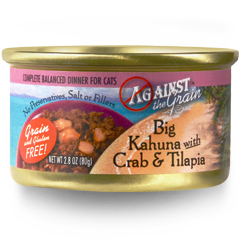 AGAINST THE GRAIN™ Big Kahuna with Crab & Tilapia for Cats