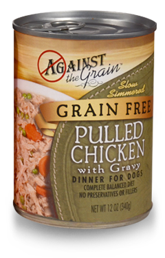 AGAINST THE GRAIN™ Grain Free Hand Pulled Chicken with Gravy for Dogs