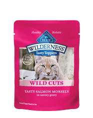 BLUE Wilderness® Wild Cuts Tasty Toppers Tasty Salmon Morsels for Adult Cats