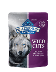 BLUE Wilderness® Wild Cuts Trail Toppers™ Chunky Beef Bites for Adult Dogs