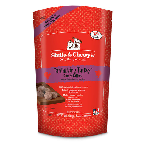 STELLA & CHEWY'S® Raw Tantalizing Turkey Dinner Patties
