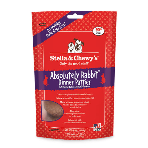 STELLA & CHEWY'S® Freeze Dried Absolutely Rabbit Dinner Patties for Dogs