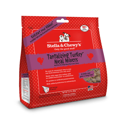 STELLA & CHEWY'S® Freeze Dried Tantalizing Turkey Meal Mixers for Dogs