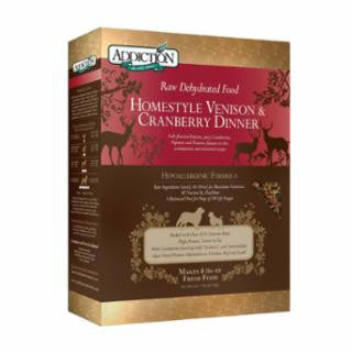 ADDICTION Homestyle Venison & Cranberry Dinner Raw Dehydrated Dog Food