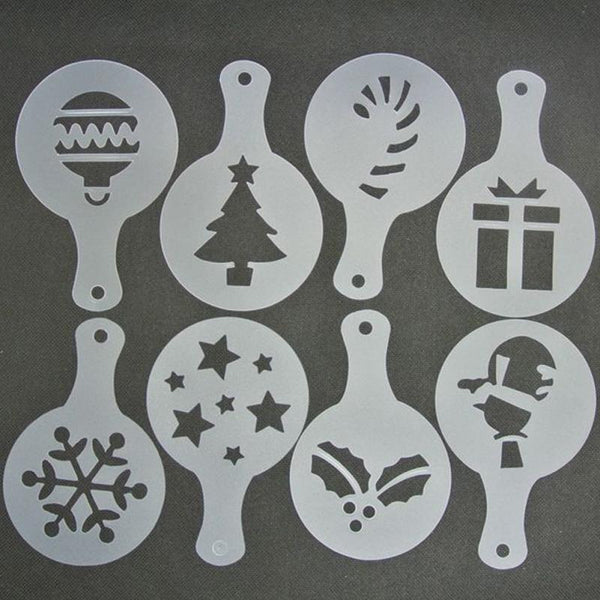 Christmas Coffee Stencils (8 picese)