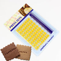 Lovely Letter and Number Biscuit Stamp