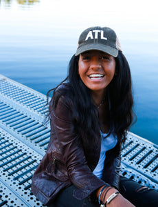 ATL trucker hat in vintage washed black