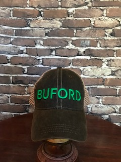 BUFORD vintage black trucker hat - 3D puff embroidered - NEW