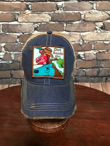 Dirt Roads Girl patch on camouflage, red, or blue trucker cap - NEW