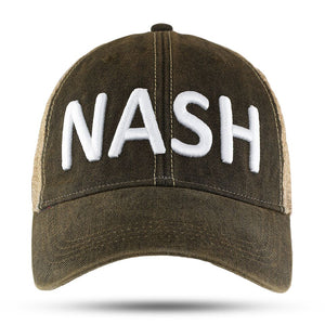 NASH black vintage washed trucker hat - NEW