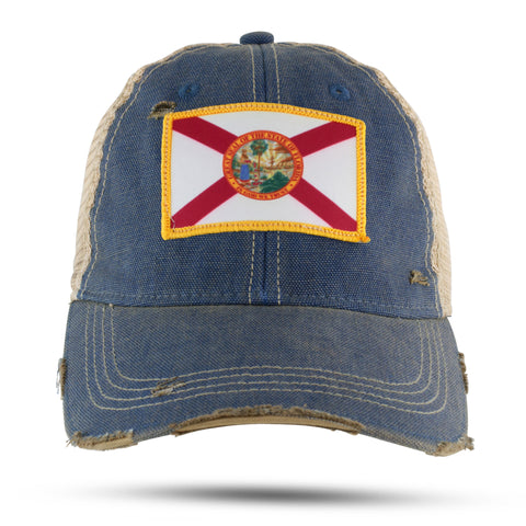 Florida State Flag patch trucker hat - NEW