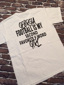 Football is my 2nd favorite F word T-shirt - New in White