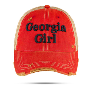 Georgia Girl-Our original Vintage Trucker's Cap in Red - New