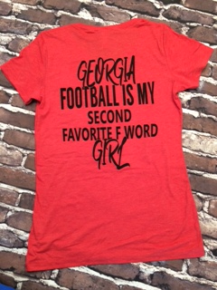 Football is my 2nd favorite F Word in RED Juniors Size - Free Shipping