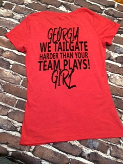 We Tailgate Harder than your Team Plays in RED - Junior size